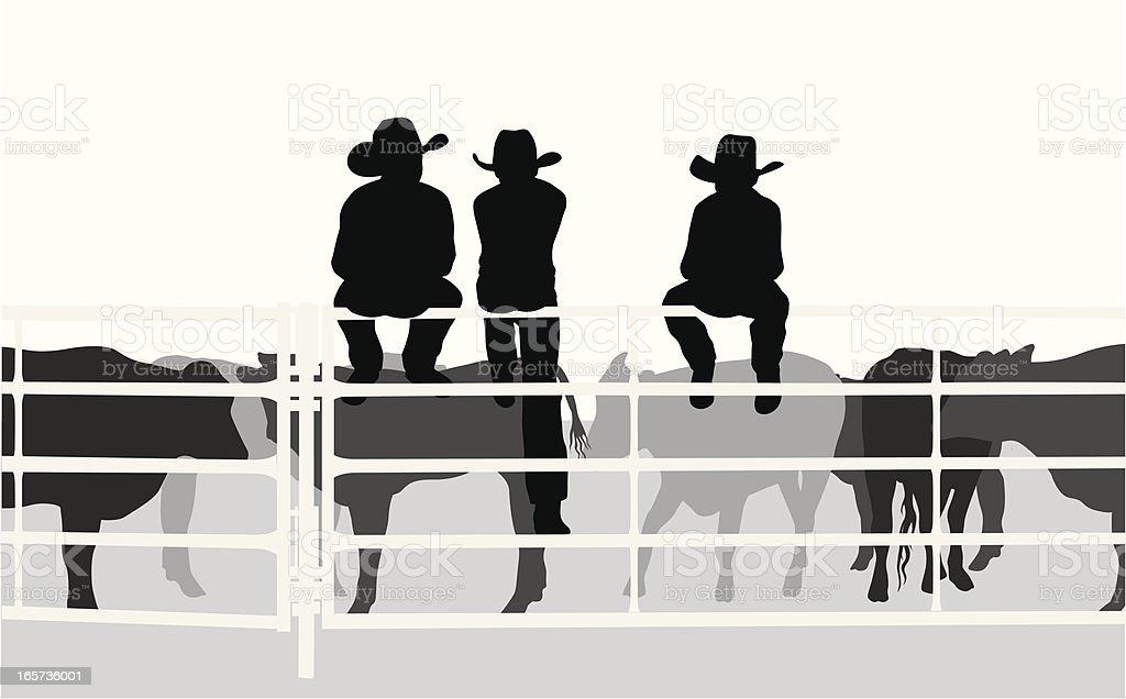 LittleCowboys vector art illustration
