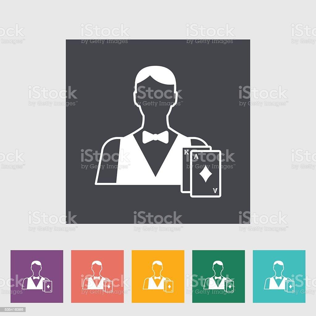 Live dealer vector art illustration