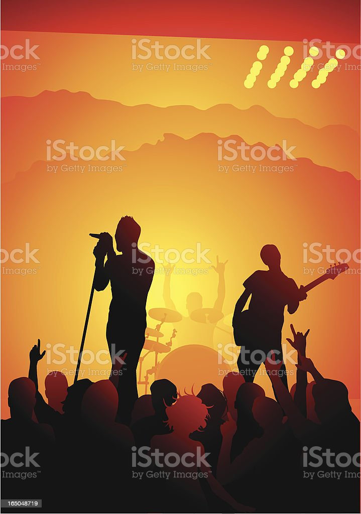 Live indie band royalty-free stock vector art