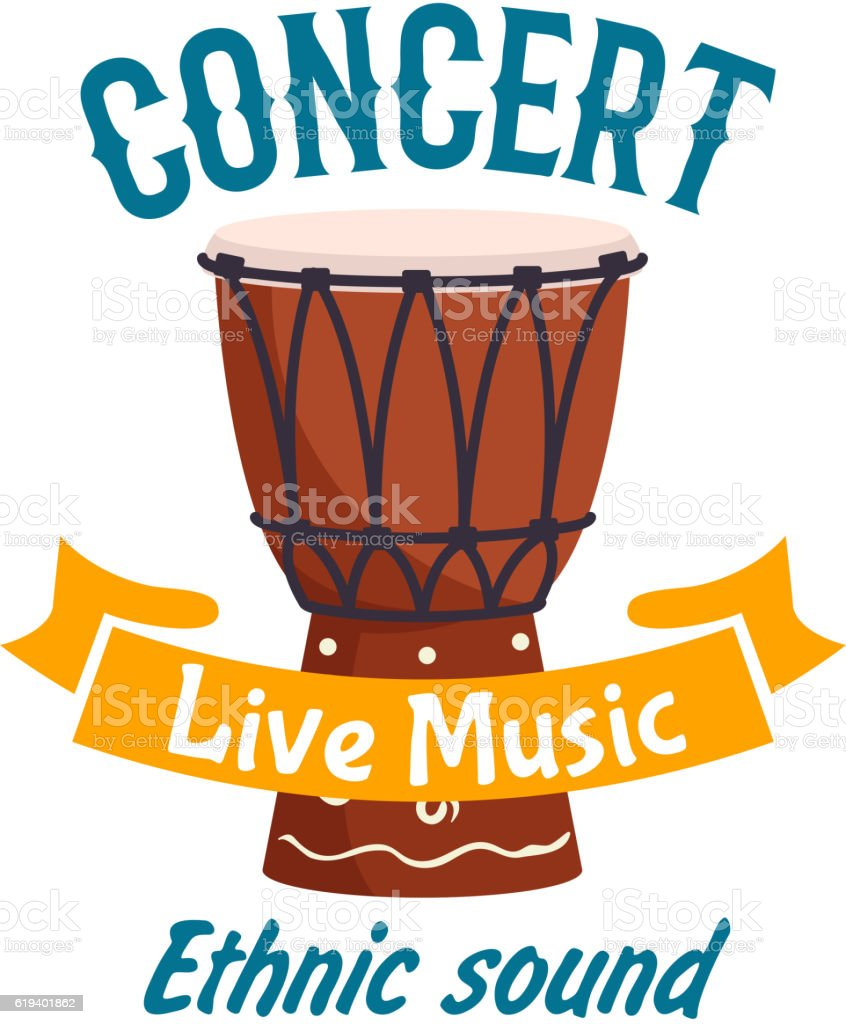 Live music concert isolated vector label emblem vector art illustration