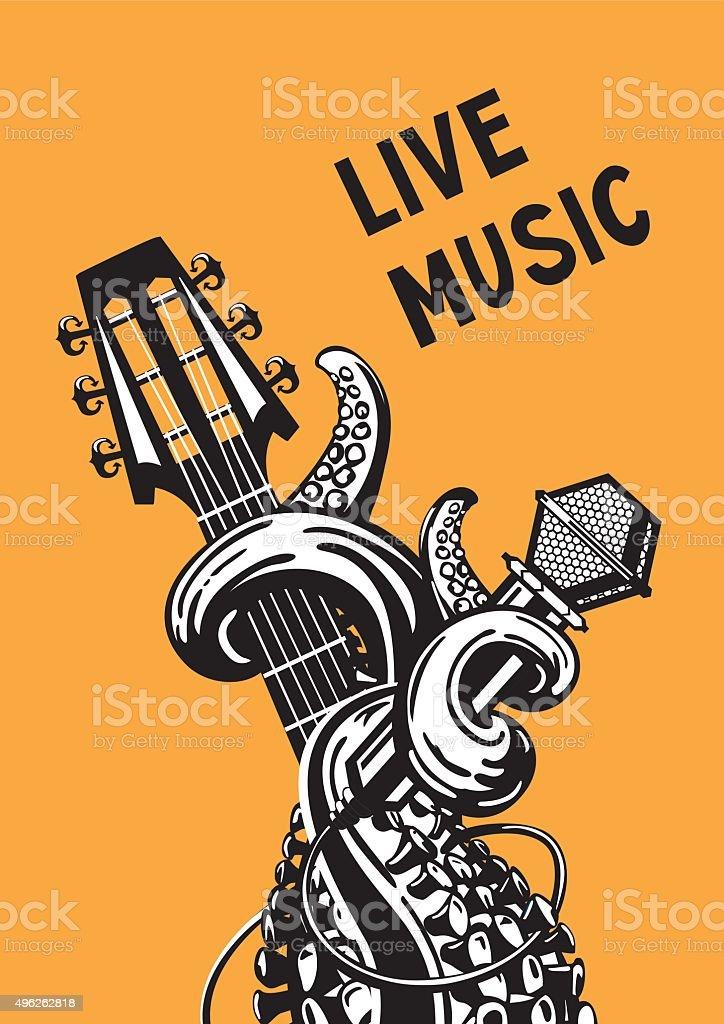 live music vector art illustration