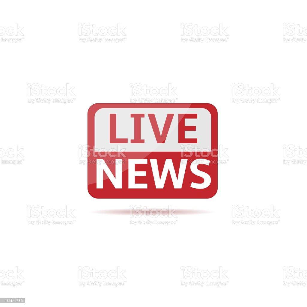 Live news vector art illustration
