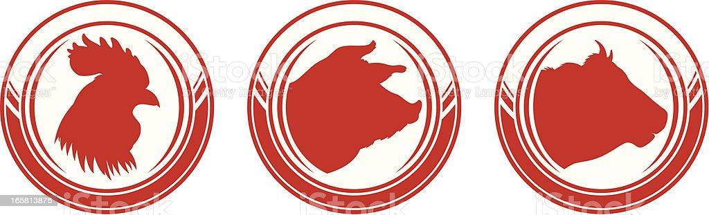 Livestock royalty-free stock vector art