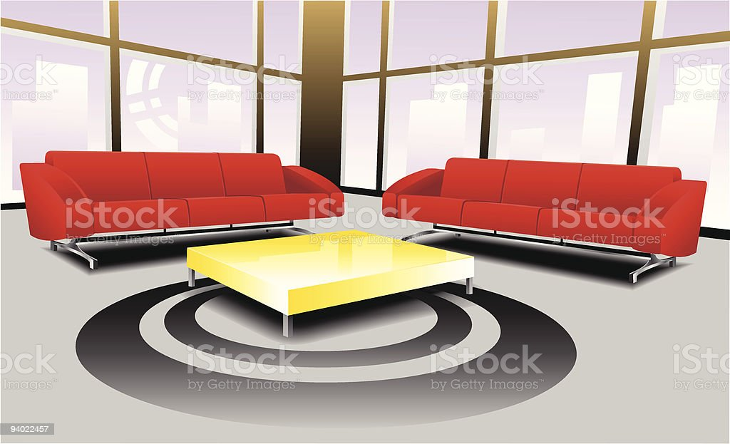 Living room area royalty-free stock vector art
