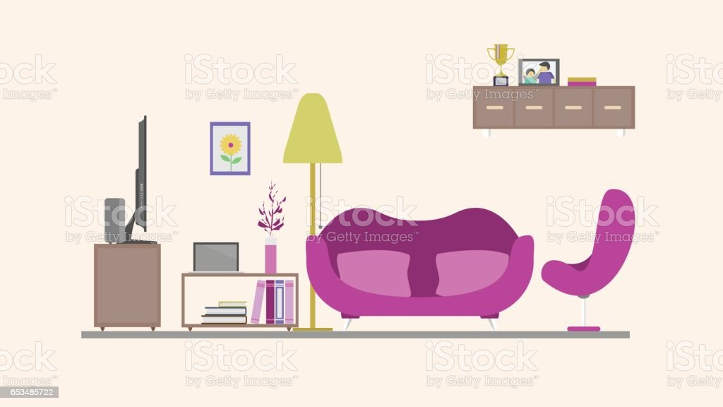 Living Room Background Royalty Free Stock Vector Art