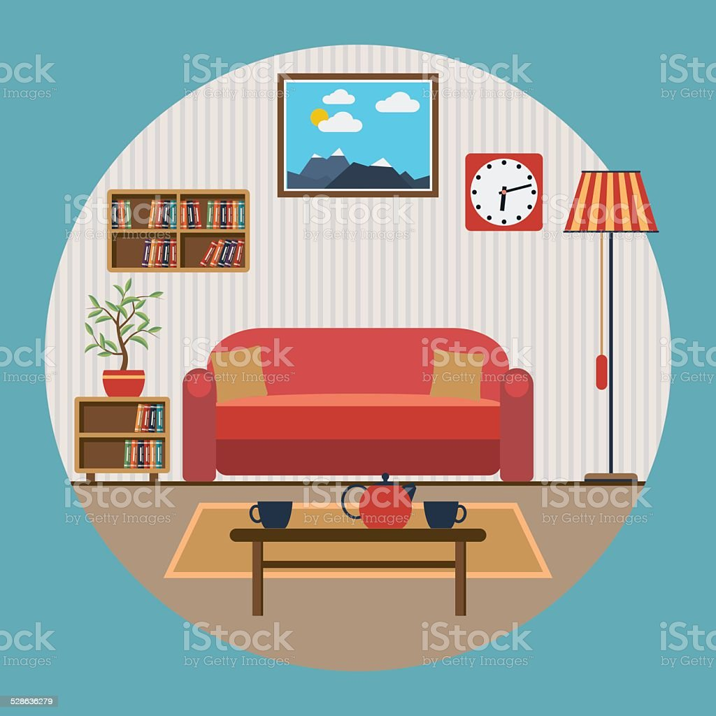 living room clip art vector images amp illustrations   istock