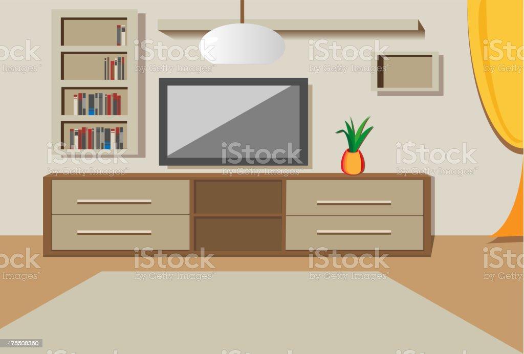Living Room Royalty Free Stock Vector Art