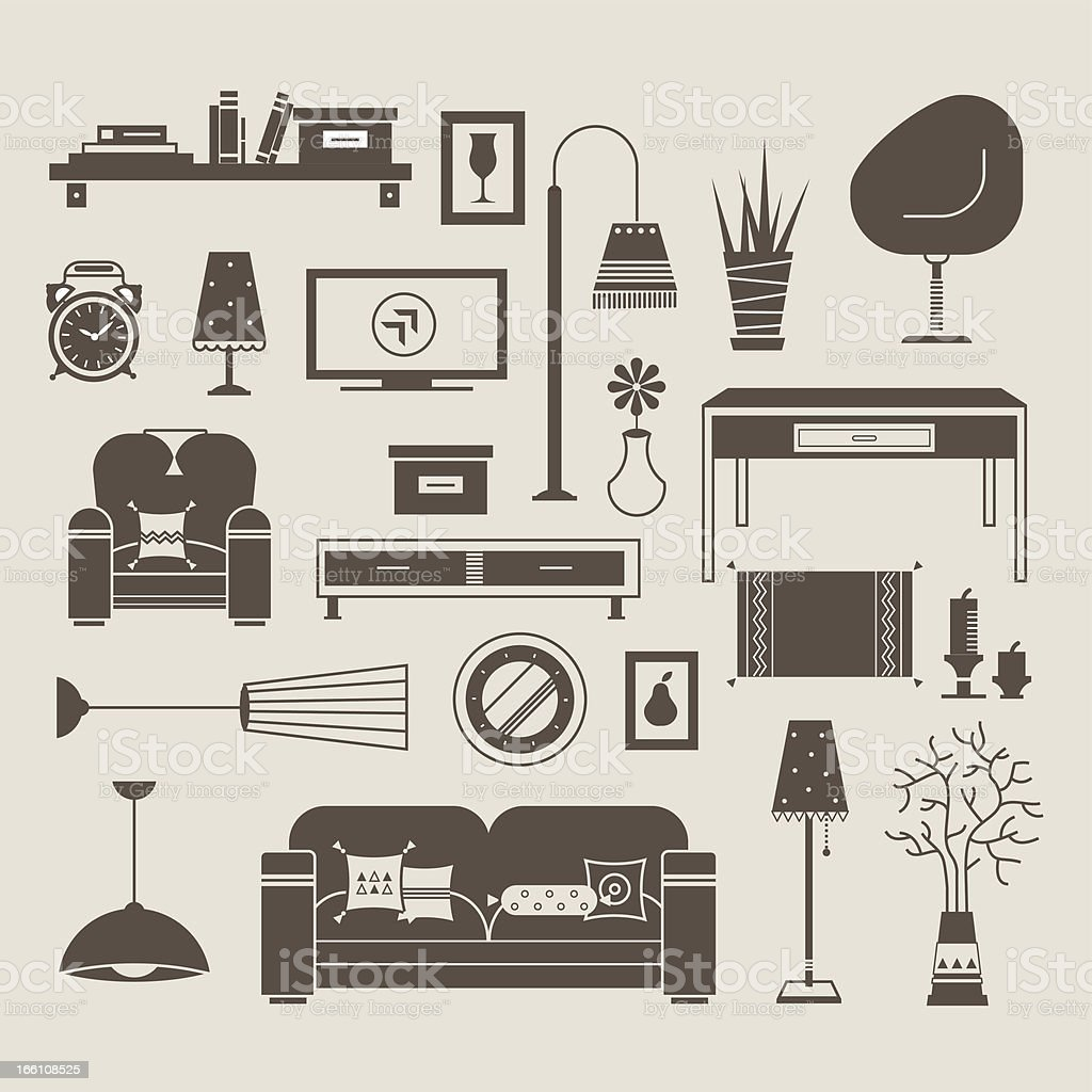 Living room vector royalty-free stock vector art