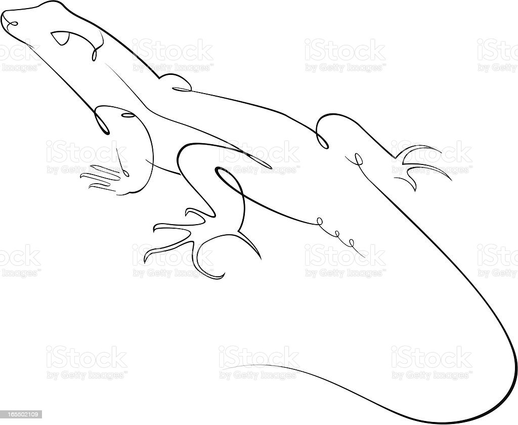Lizard royalty-free stock vector art