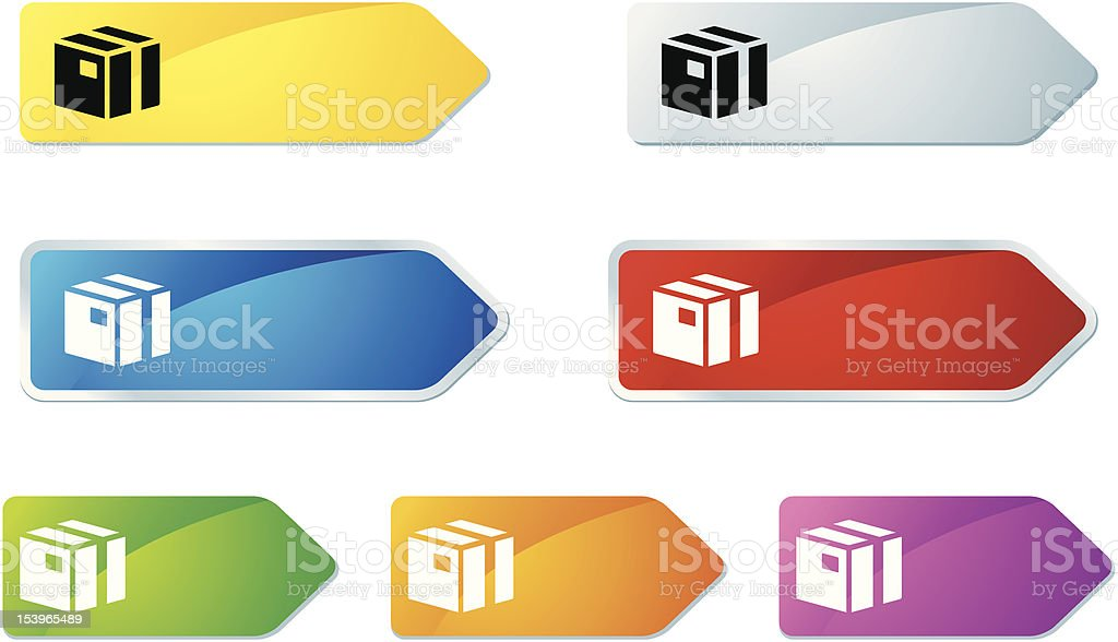 'L-label' Icon Series | Box royalty-free stock vector art