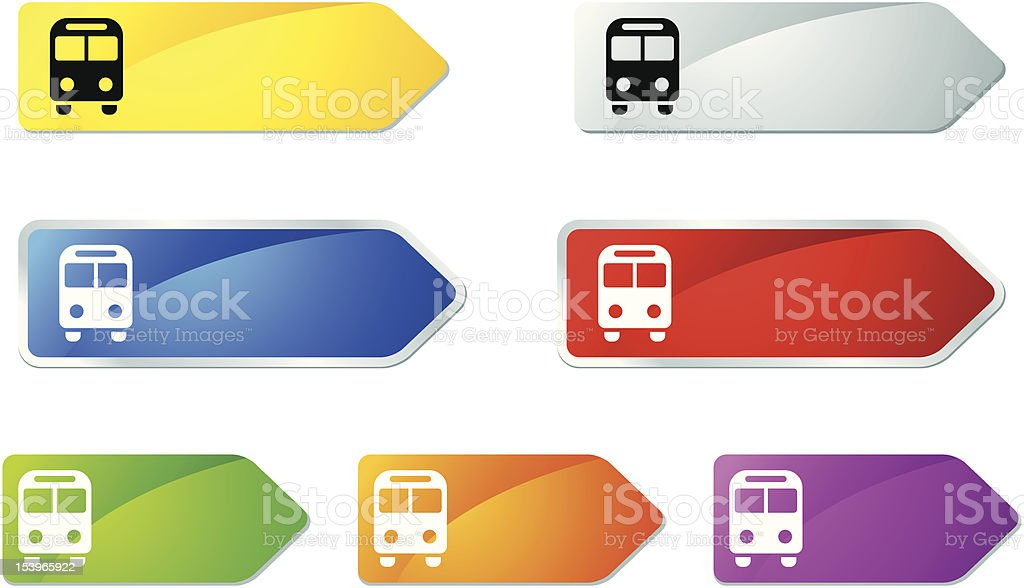 'l-label' Icon Series | Bus royalty-free stock vector art
