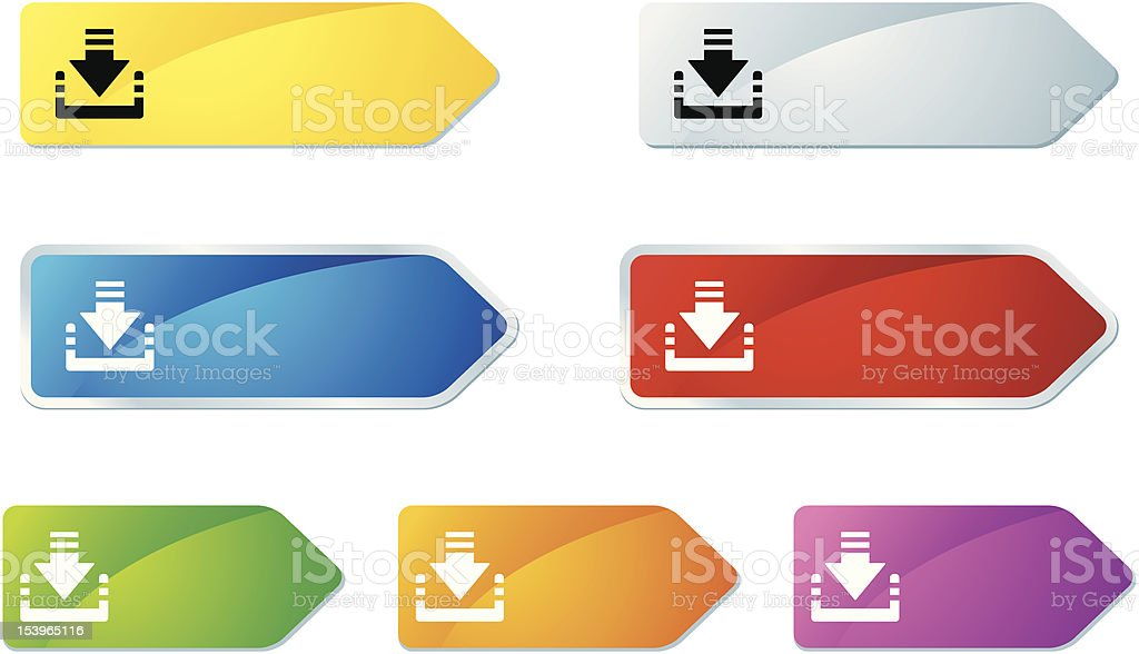 'L-label' Icon Series | Download royalty-free stock vector art