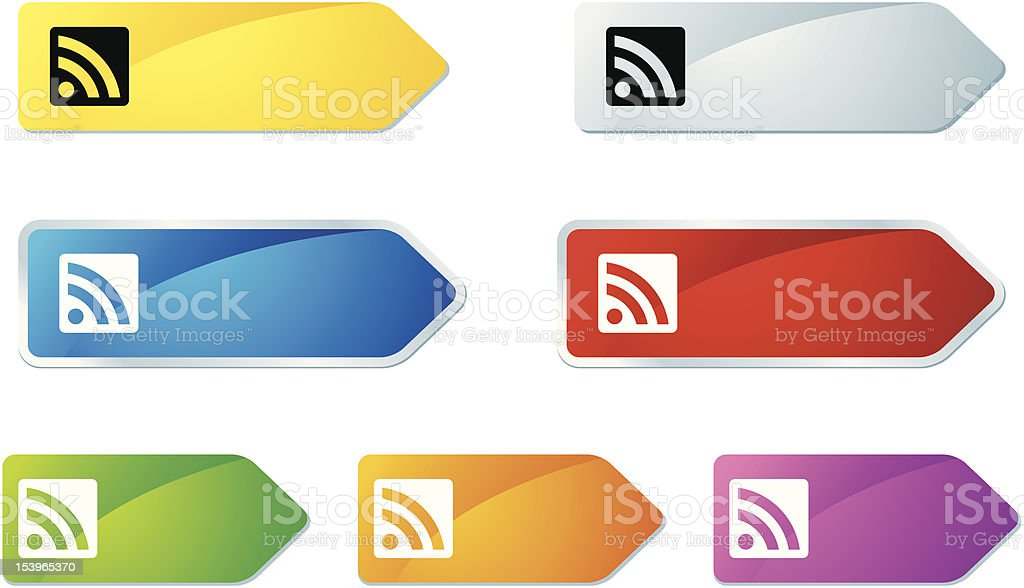 'L-label' Icon Series | RSS Feed royalty-free stock vector art