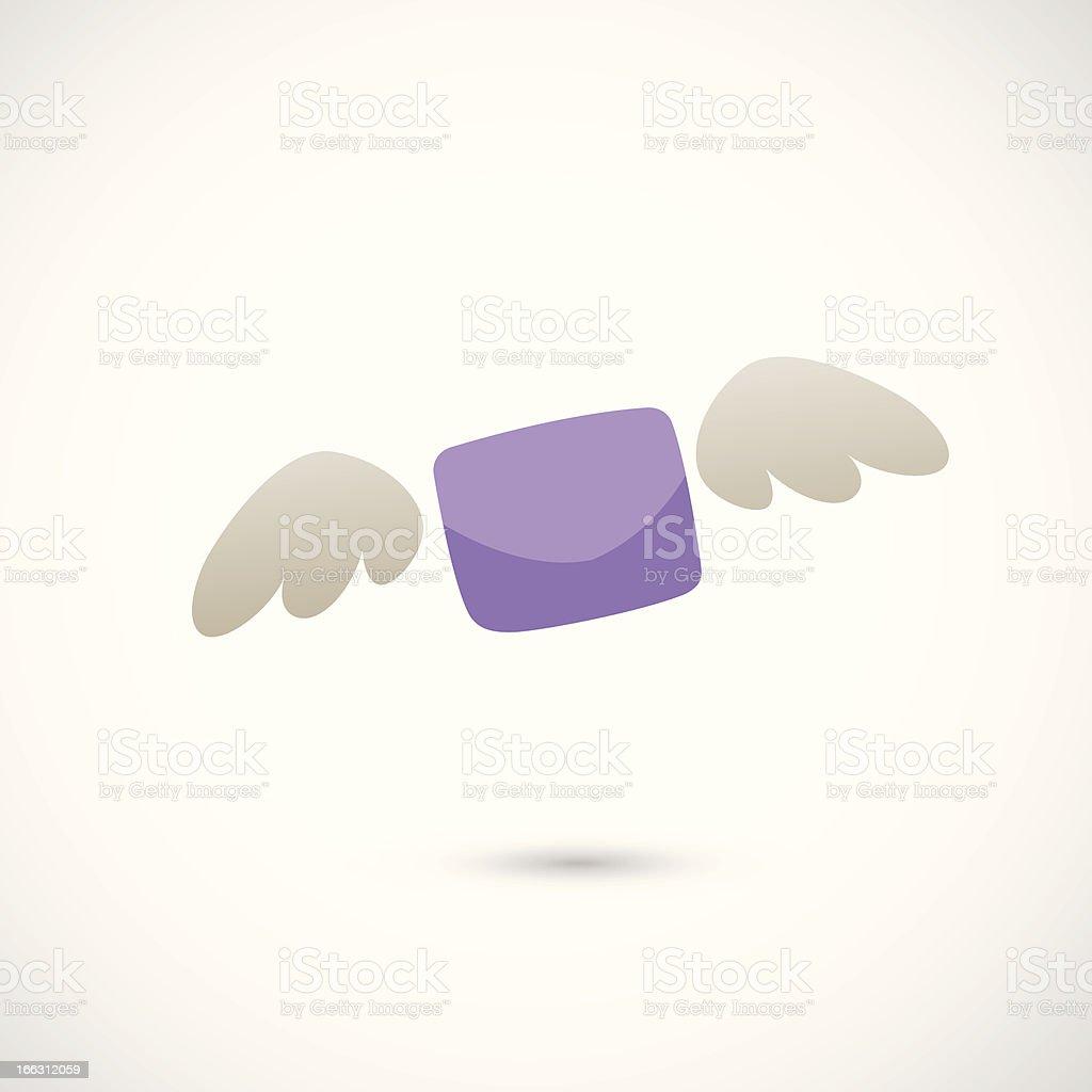 llustration of flying letter royalty-free stock vector art