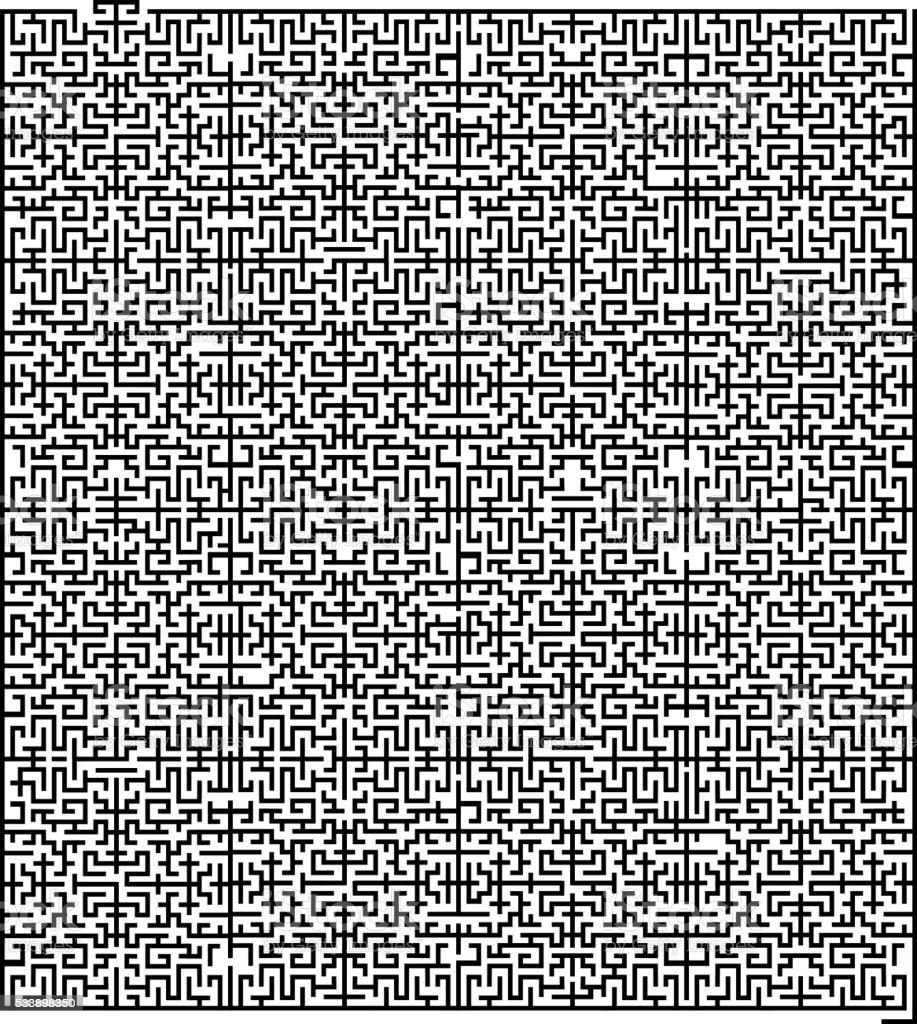 llustration of maze for your design vector art illustration