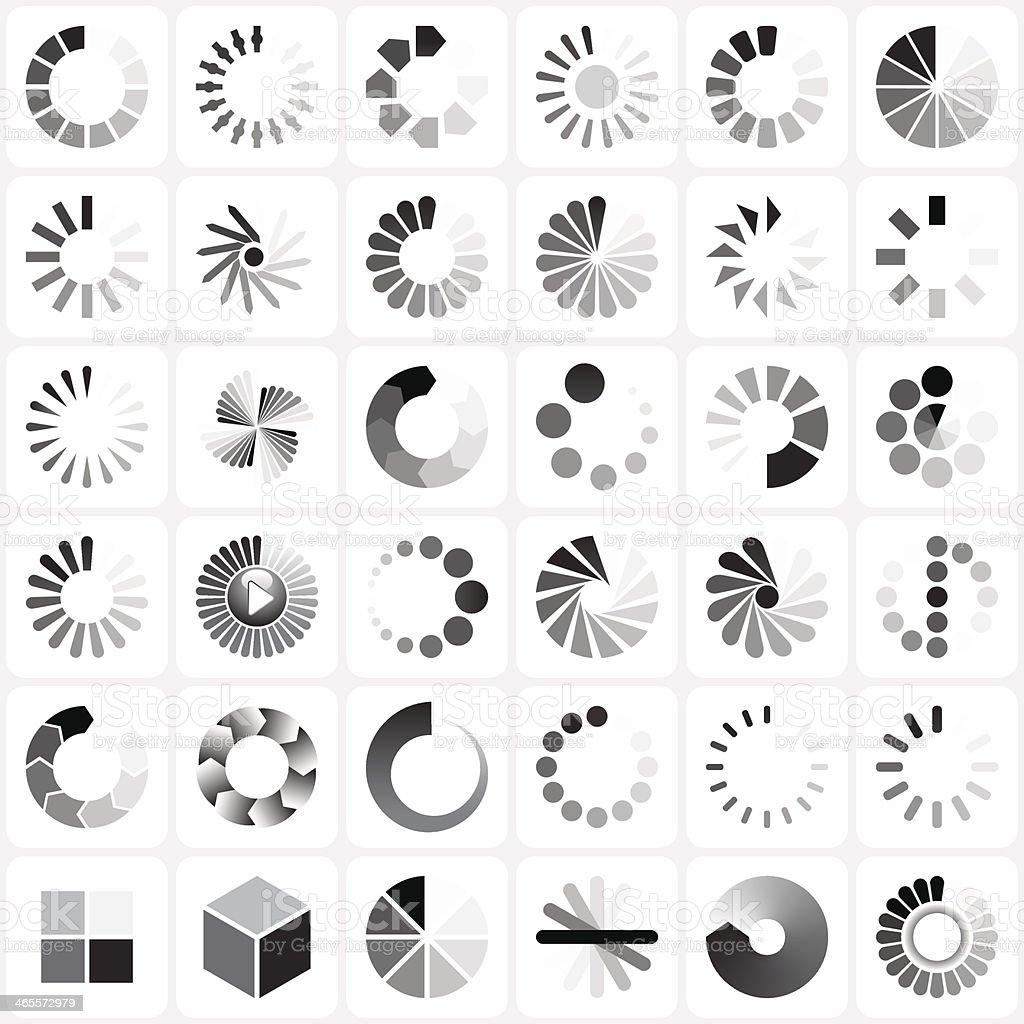 load indicators set vector art illustration