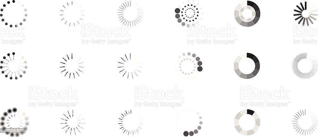 loaders vector art illustration