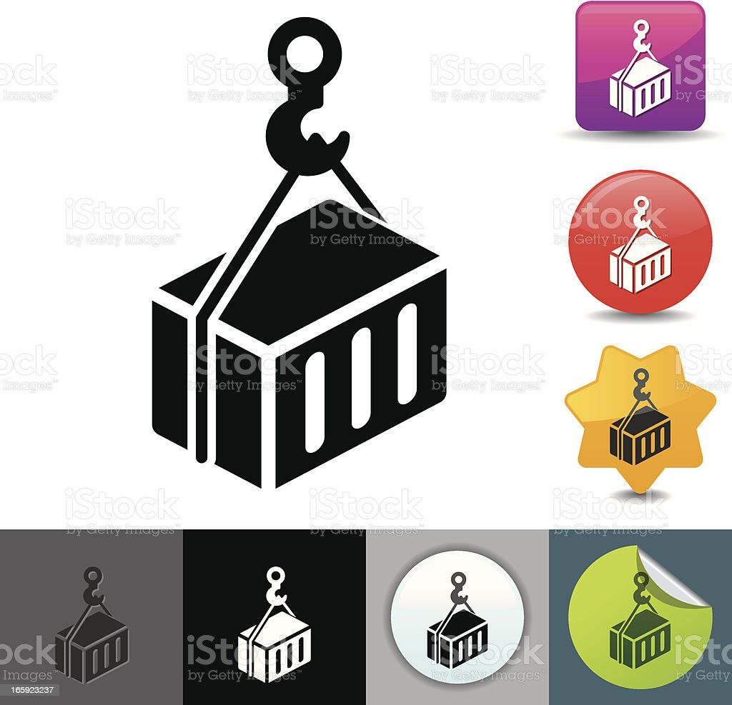 Loading container icon | solicosi series royalty-free stock vector art
