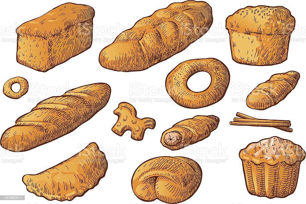 Loaf of bread vector art illustration