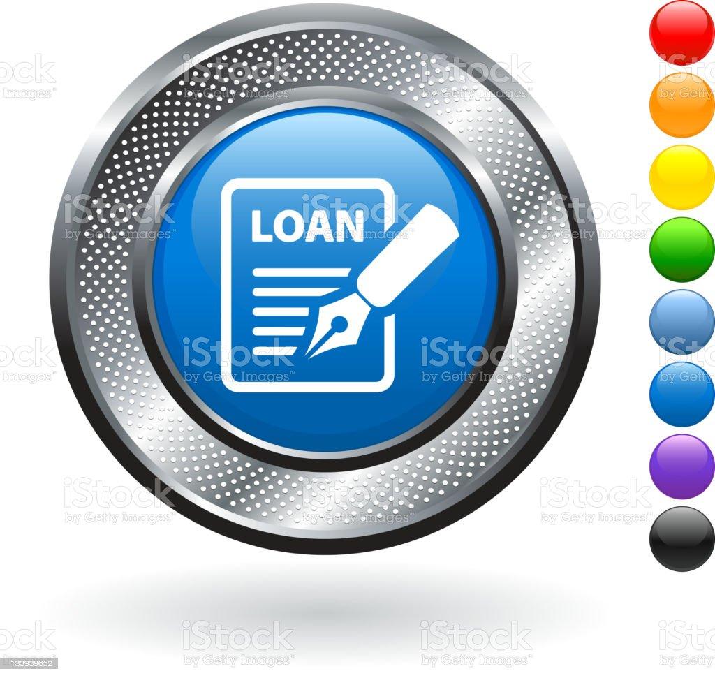 loan application royalty free vector art on metallic button royalty-free stock photo