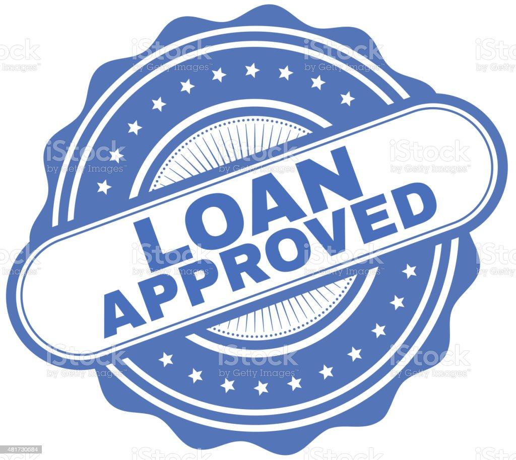 Loan Approved vector art illustration