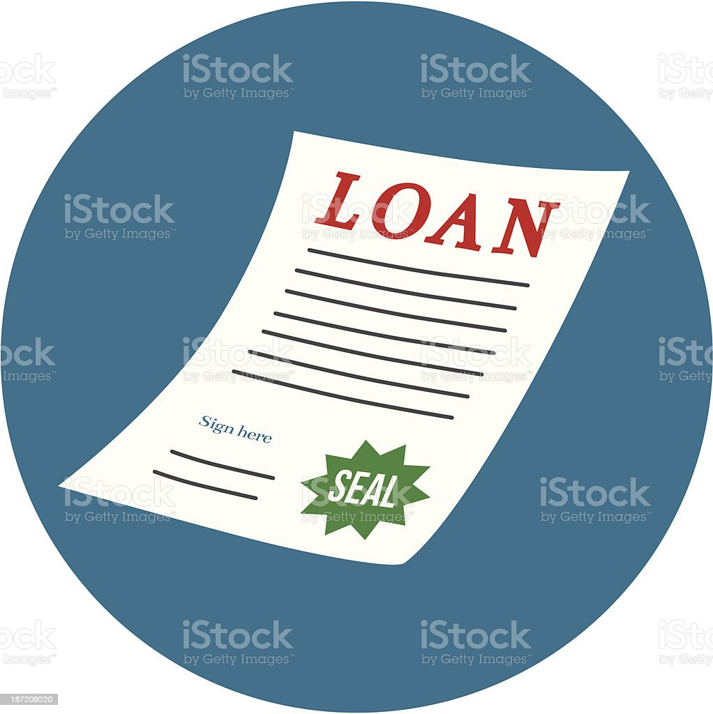 loan legal document vector art illustration