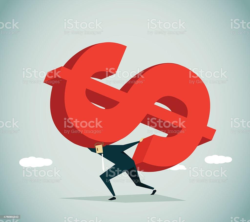 Loan vector art illustration
