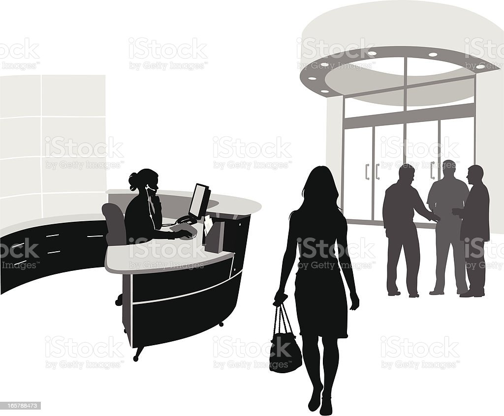 Lobby Vector Silhouette vector art illustration