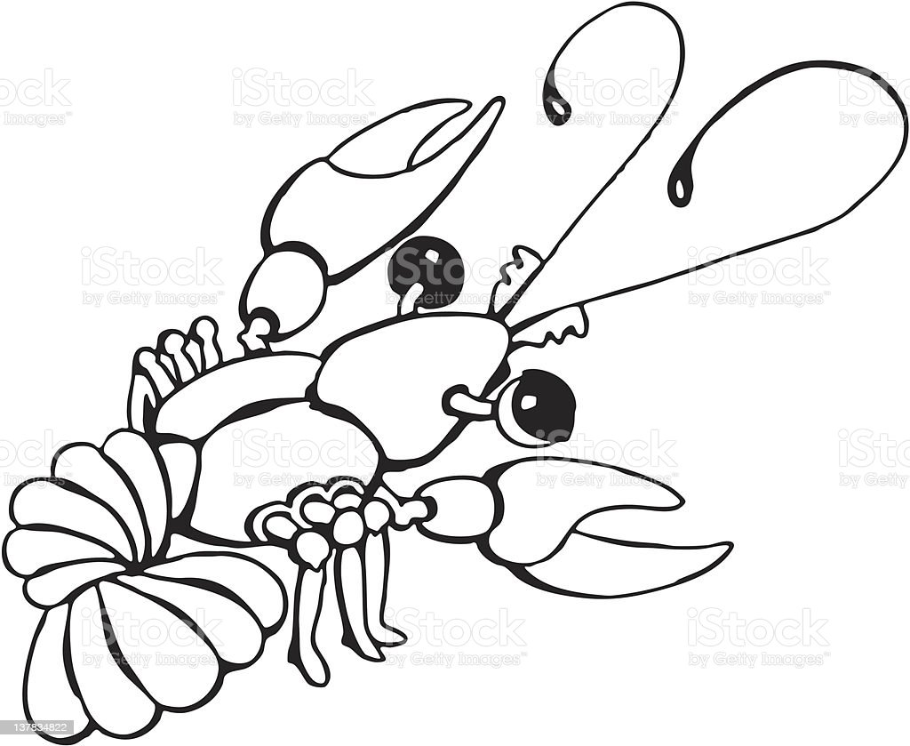 lobster cartoon royalty-free stock vector art