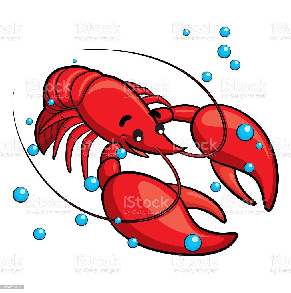 Lobster Cartoon vector art illustration