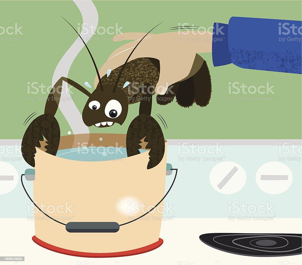 Lobster cooking vector art illustration