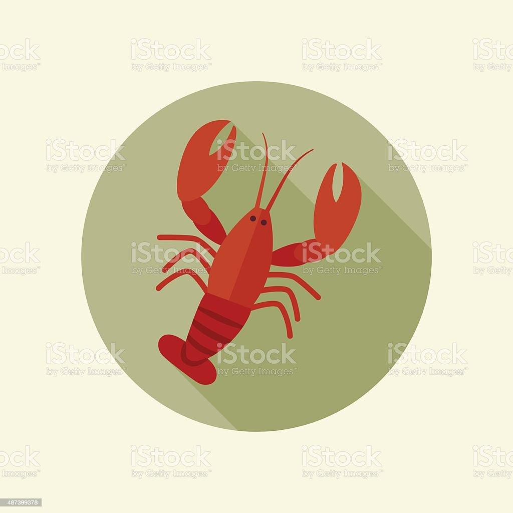 Lobster icon vector art illustration