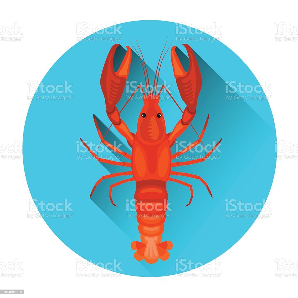 Lobster Seafood Fresh Food Icon vector art illustration