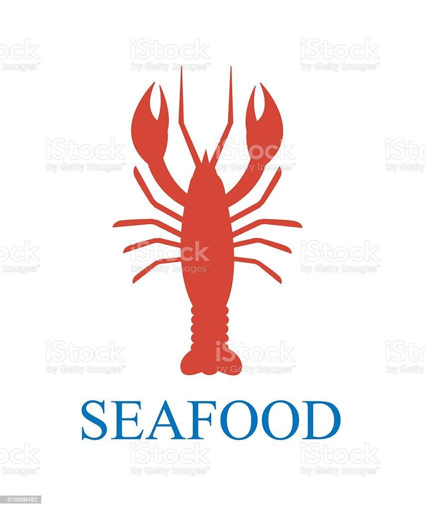 lobster seafood vector art illustration
