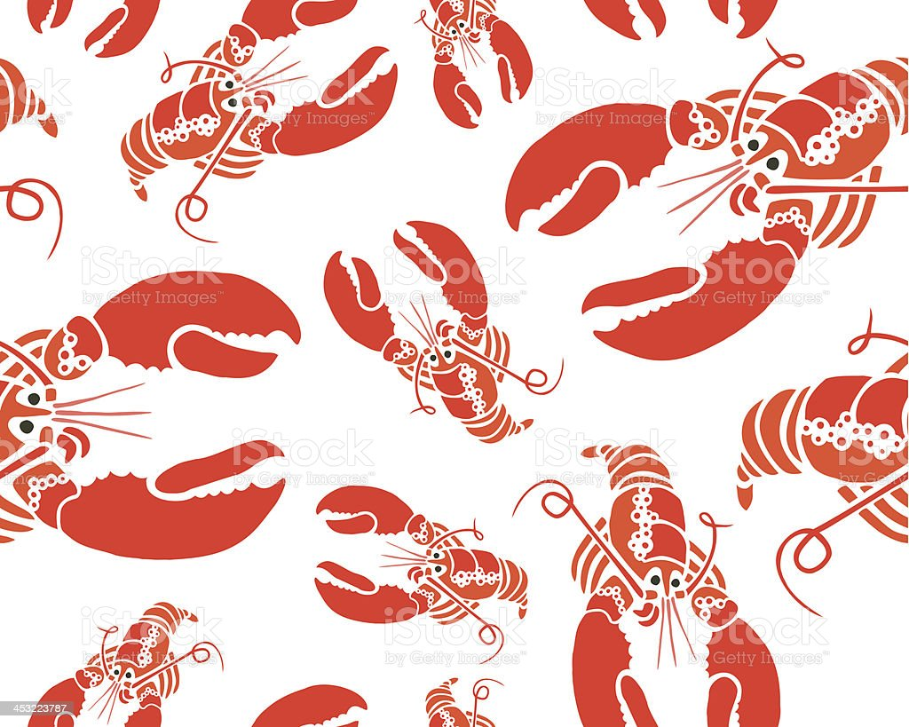 Lobster Seamless Pattern royalty-free stock vector art