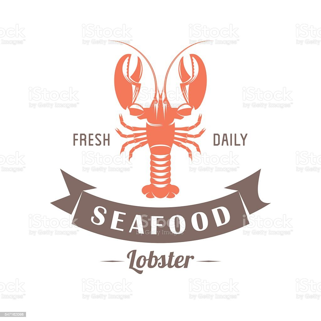 lobster vector emblem vector art illustration