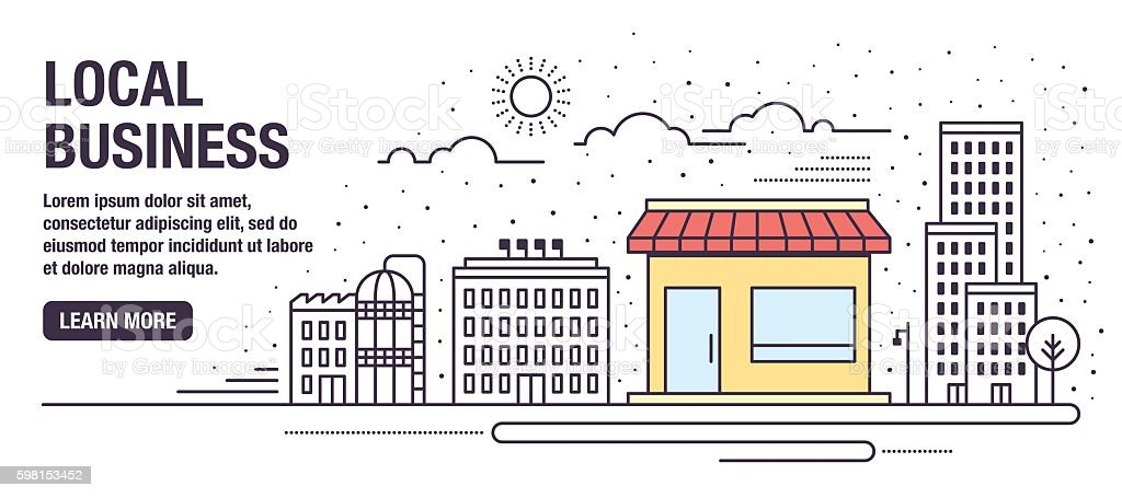 Local Business vector art illustration