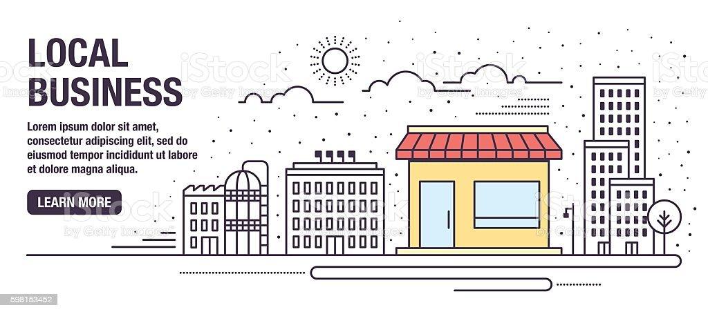 Local Business vector art illustration
