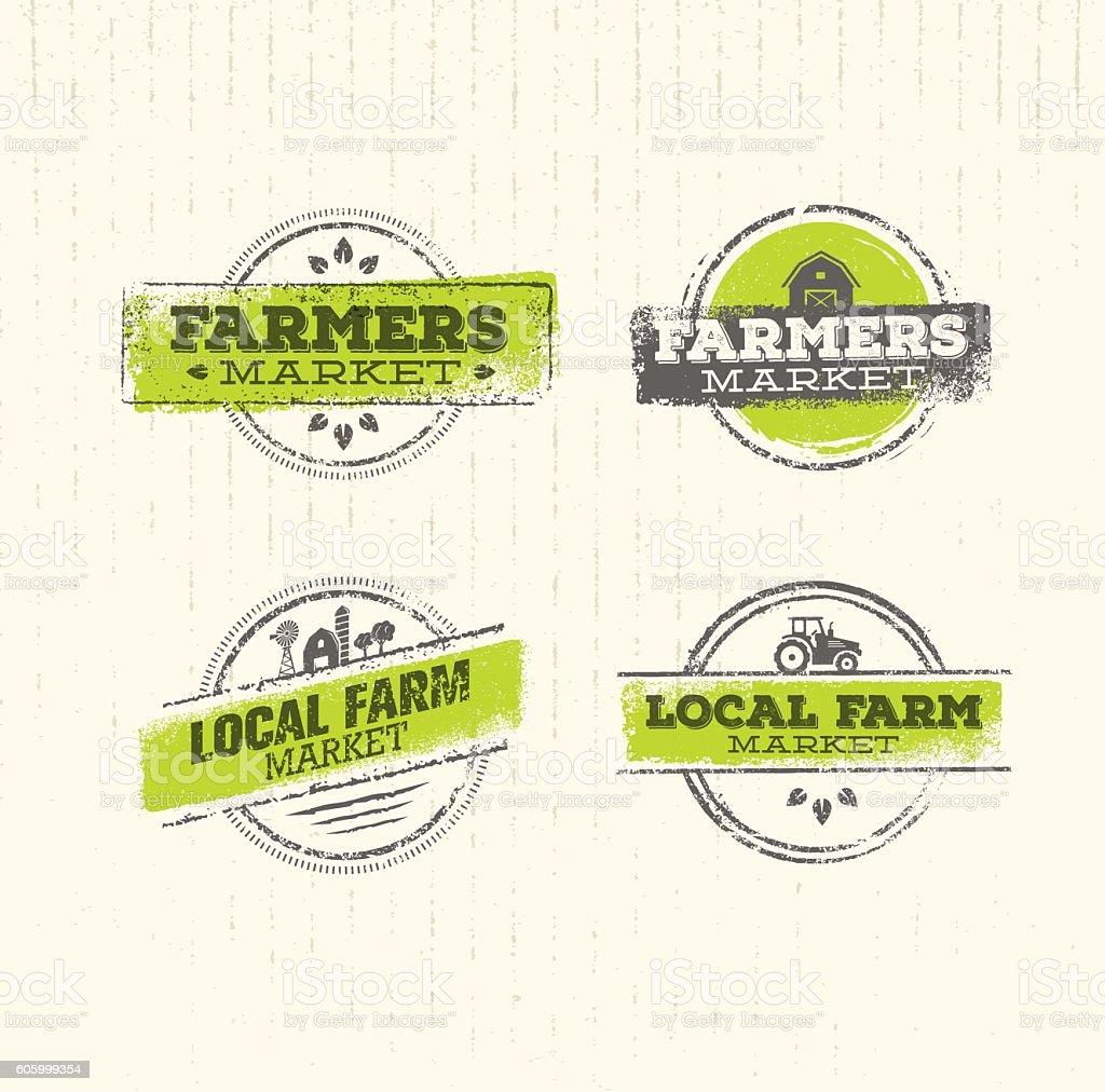 Local Farm Market vector art illustration