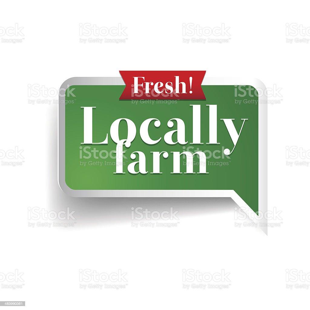 Locally farm label, badge or seal royalty-free stock vector art