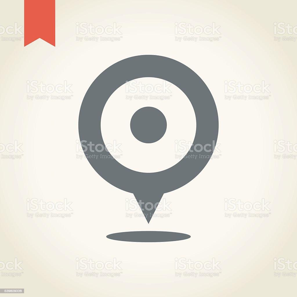 Location icon vector art illustration