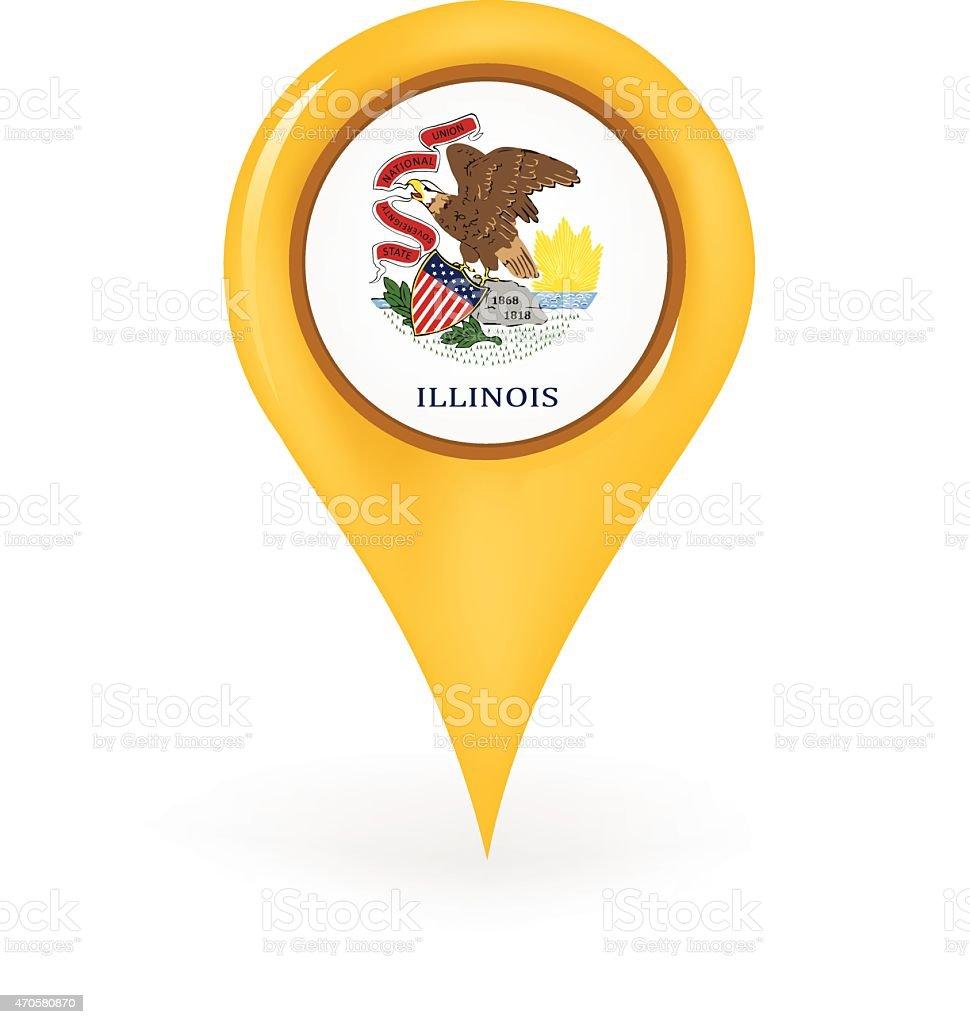 Location Illinois vector art illustration