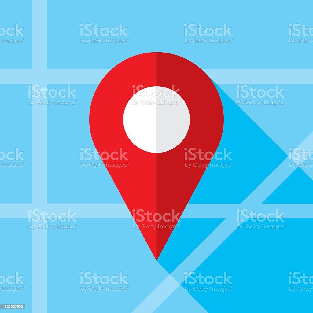 Location Marker Icon Flat vector art illustration