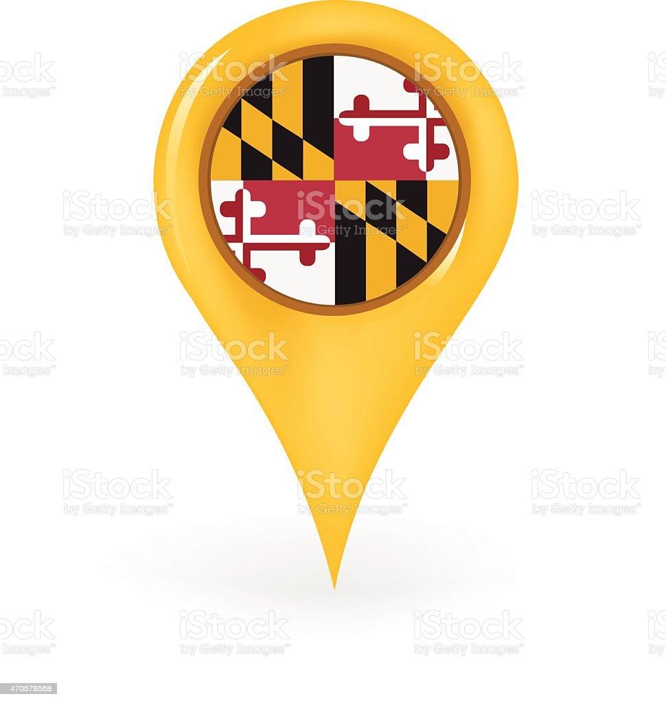 Location Maryland vector art illustration