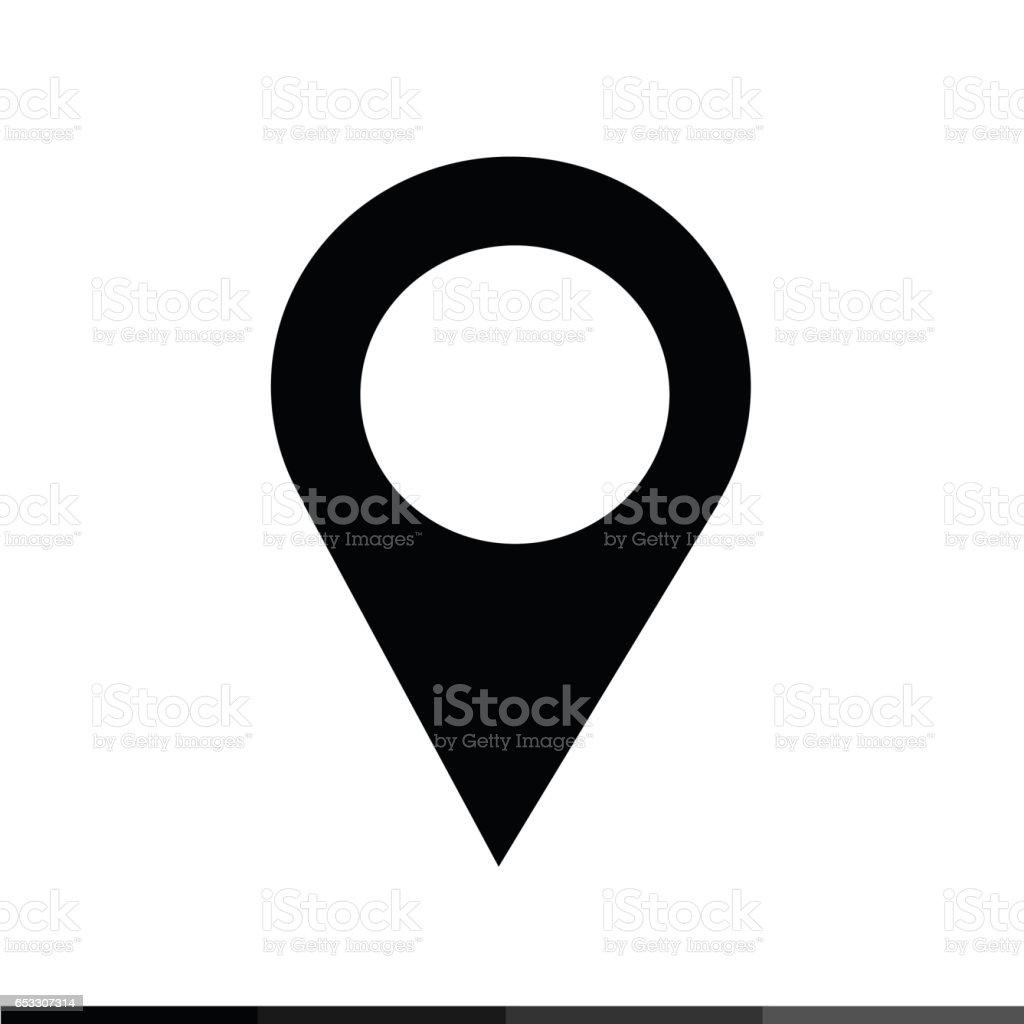 Location Pin Icon Illustration design vector art illustration