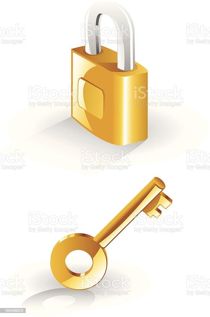 Lock and key royalty-free stock vector art