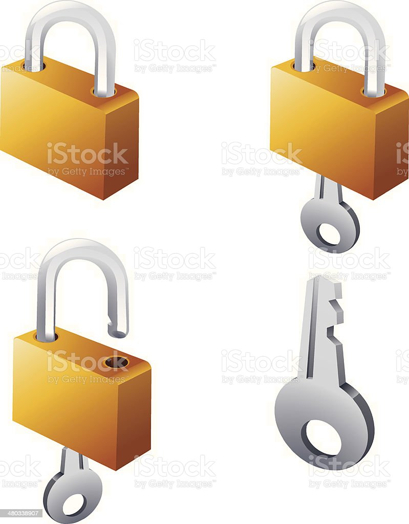 Lock and key royalty-free stock vector art