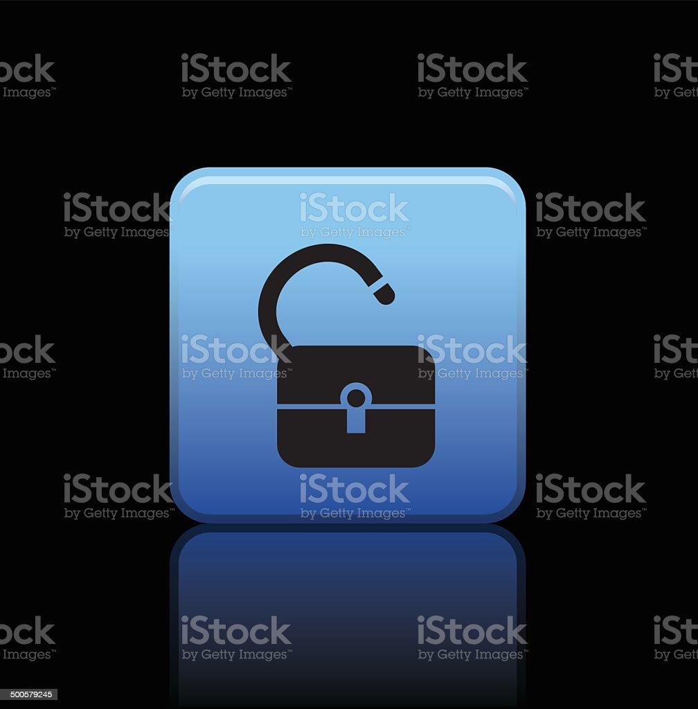 lock button icon vector art illustration