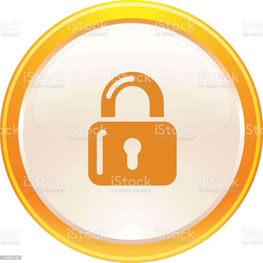Lock Button Icon Web stock vector art 498565783 | iStock