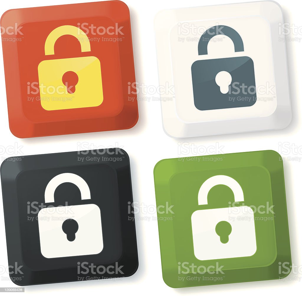Lock buttons royalty-free stock vector art